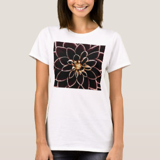 Dark dahlia flower illustration T-Shirt
