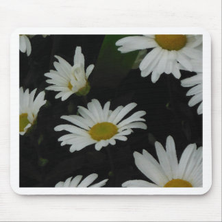 Dark Daisies 2 Flowers Americana Folk Art Mouse Pad