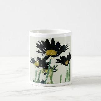 Dark Daisies Coffee Mugs
