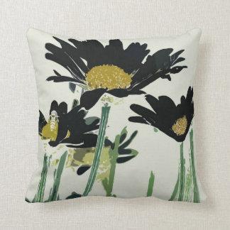 Dark Daisies Cushion Pillow