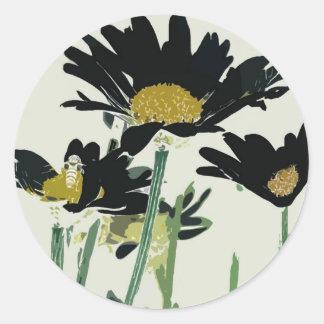Dark Daisies Sticker
