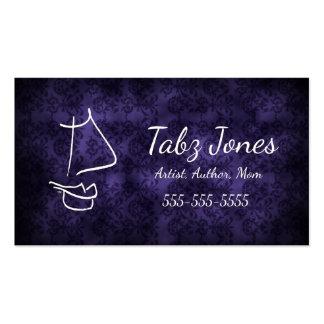Dark Damask Goth Calling Card Business Card