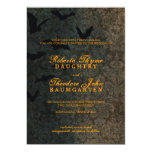 Dark Damask Halloween Wedding Invitation