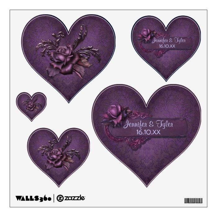 Dark Damask Romance - Customize Wall Sticker
