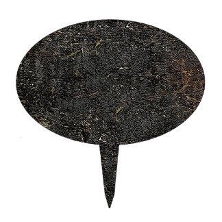 Dark Decay Grunge Texture Cake Topper