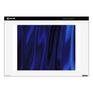 Dark Deep Blue Silky Satin Solid Color Backgrounds Laptop Decals