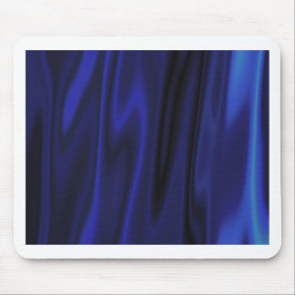 Dark Deep Blue Silky Satin Solid Color Backgrounds Mouse Pad