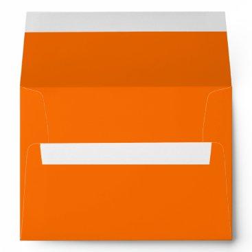 Aqua Dark Deep Pumpkin Orange Creepy Hollow Halloween Envelope