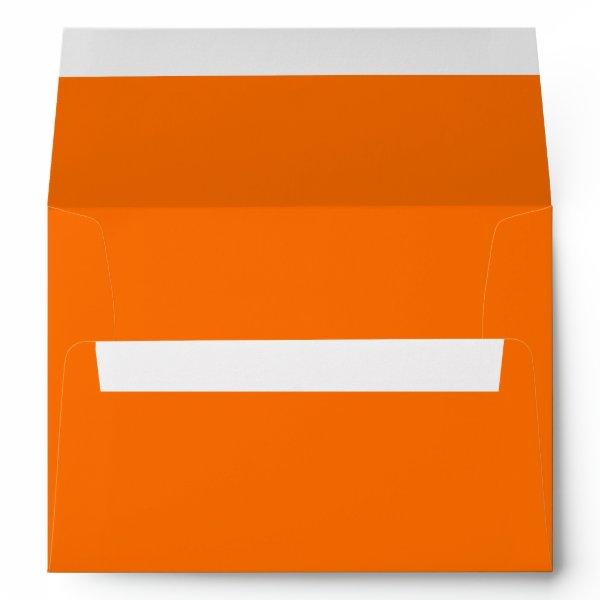 Dark Deep Pumpkin Orange Creepy Hollow Halloween Envelope