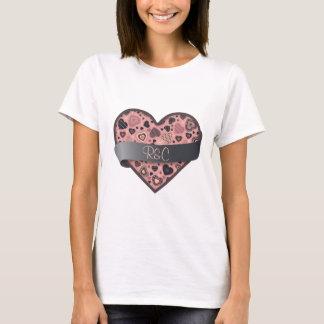 Dark Delight heart with banner, customizable T-Shirt