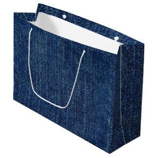 Dark Denim Large Gift Bag