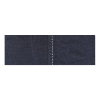 Dark Denim Seam Double-Sided Mini Business Cards (Pack Of 20)