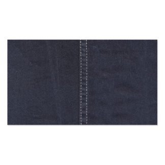 Dark Denim Seam Double-Sided Standard Business Cards (Pack Of 100)