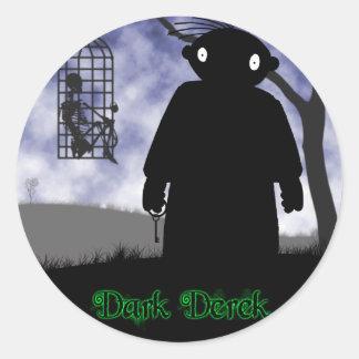 Dark Derek - Hanging Basket Classic Round Sticker