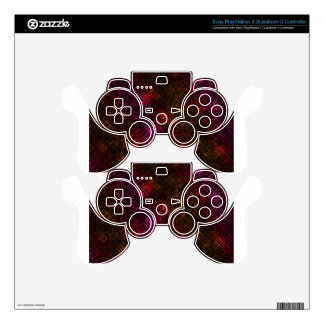 Dark diamond pattern PS3 controller skin