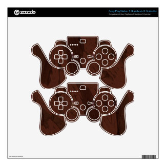 DARK DIGITAL WOOD MANDELBULB 3D. FRACTAL IMG PS3 CONTROLLER DECALS