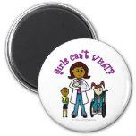 Dark Doctor Girl Magnets