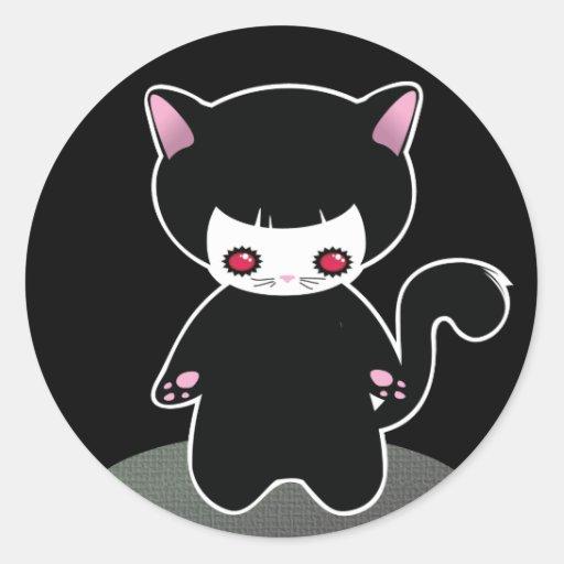 Dark Dolls Halloween Stickers