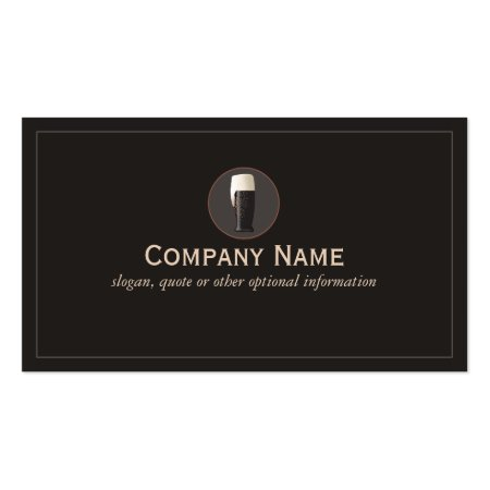 Simple Classic Glass of Dark Draft Beer Business Cards
