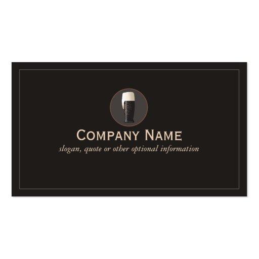 Dark Draft Beer Business Card