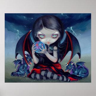 Dark Dragonling ARTICLES PRINT gothic tarragon fai