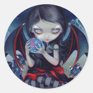 """Dark Dragonling"" Sticker Pegatina Redonda"