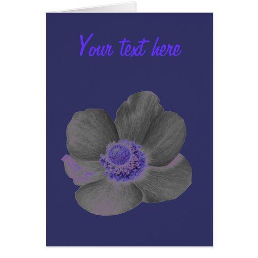 Dark Dreams Anemone Custom Greeting Card