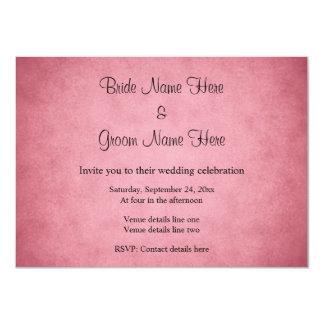 Dark Dusky Pink Mottled Pattern Wedding Card