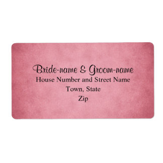 Dark Dusky Pink Mottled Pattern Wedding Custom Shipping Label
