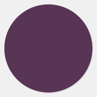 Dark Egglant Classic Round Sticker