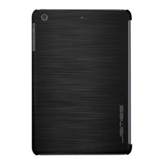 dark elegant perforated metal personalized by name iPad mini covers