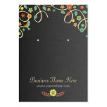 Dark Elegant Swirl Floral Earring Cards Large Business Cards (Pack Of 100)