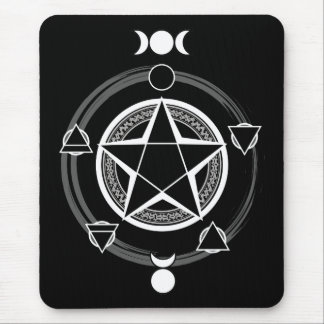 Dark Elemental Pentagram Mousepad