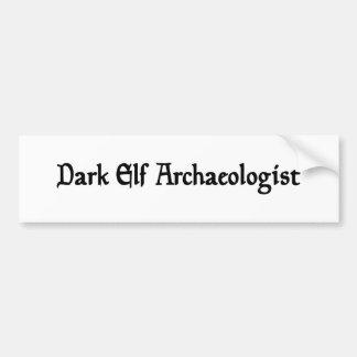 Dark Elf Archaeologist Sticker Car Bumper Sticker