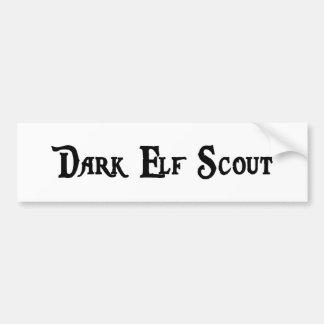 Dark Elf Scout Bumper Sticker