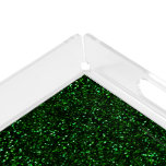 Dark Emerald Green Glitter Acrylic Tray