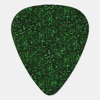 Dark Emerald Green Glitter Guitar Pick