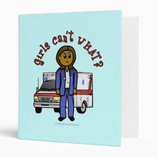 Dark EMT Paramedic Girl Vinyl Binder