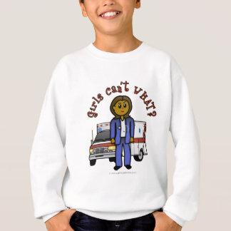 Dark EMT Paramedic Girl Sweatshirt