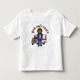 Dark EMT Paramedic Girl Toddler T-shirt