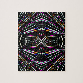 Dark Ethnic Sharp Bold Pattern Jigsaw Puzzle