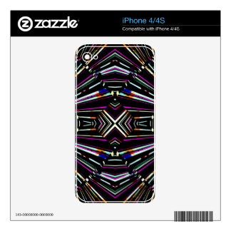 Dark Ethnic Sharp Bold Pattern Skin For iPhone 4S