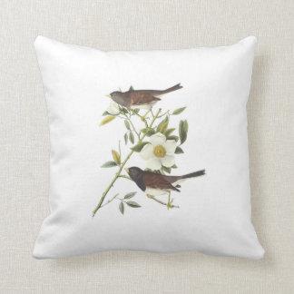 Dark-eyed Junco by Audubon Throw Pillow