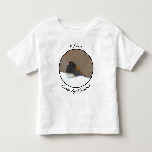 Dark_Eyed Junco Painting _ Original Bird Art Toddler T_shirt