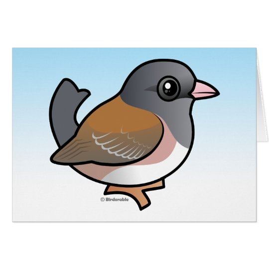 Dark-eyed Junco (pink-sided) Card