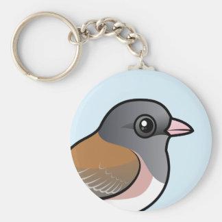 Dark-eyed Junco (pink-sided) Keychain
