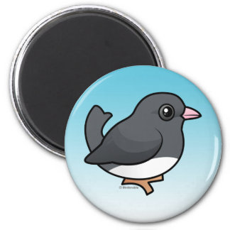 Dark-eyed Junco (slate-colored) 2 Inch Round Magnet