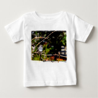 Dark-Eyed Junco Sparrow on Branch Baby T-Shirt