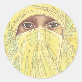 Dark Eyes/Ociy cernye Classic Round Sticker