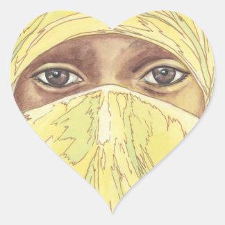 Dark Eyes/Ociy cernye Heart Sticker